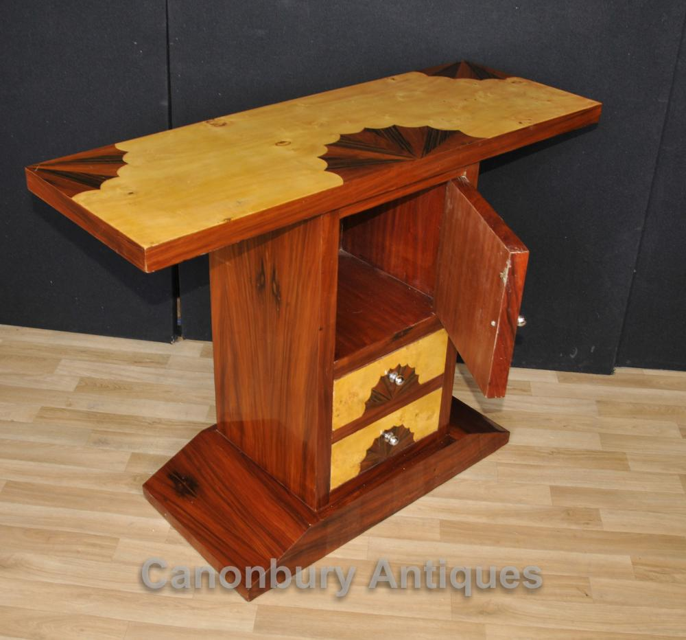 Art Deco Chest Console Table Shell Inlay Furniture
