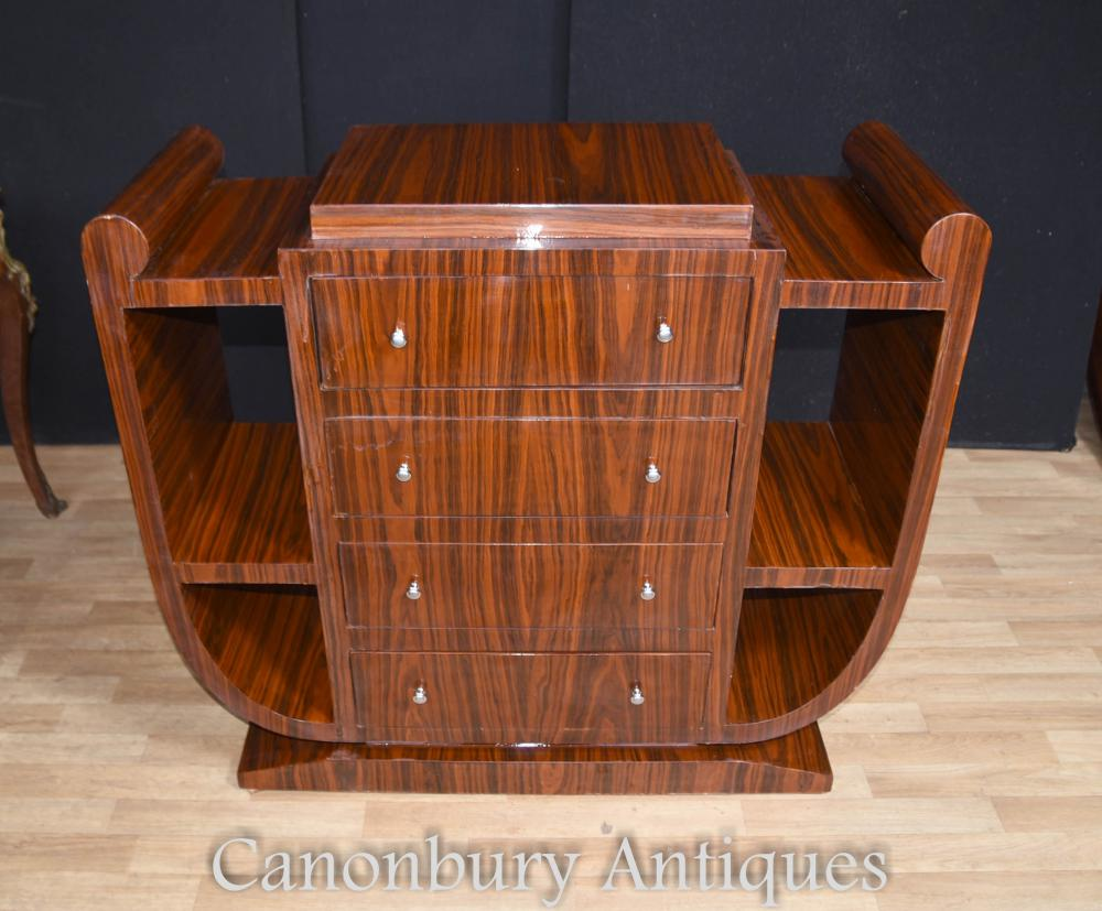 Art deco chest of drawers commode 1920s furniture for Commode miroir art deco