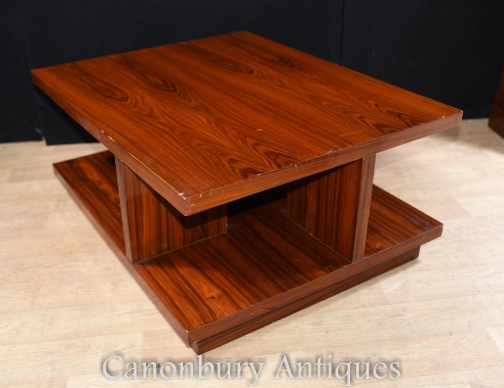 Art Deco Coffee Table Rosewood Modern Vintage Furniture
