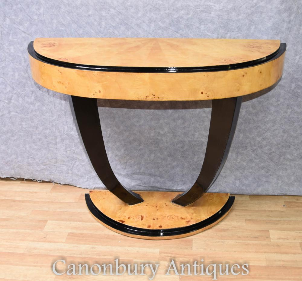 art deco console table half round hall tables 1920s ebay. Black Bedroom Furniture Sets. Home Design Ideas
