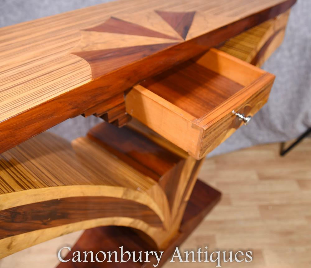 art deco console table hall tables inlay furniture. Black Bedroom Furniture Sets. Home Design Ideas