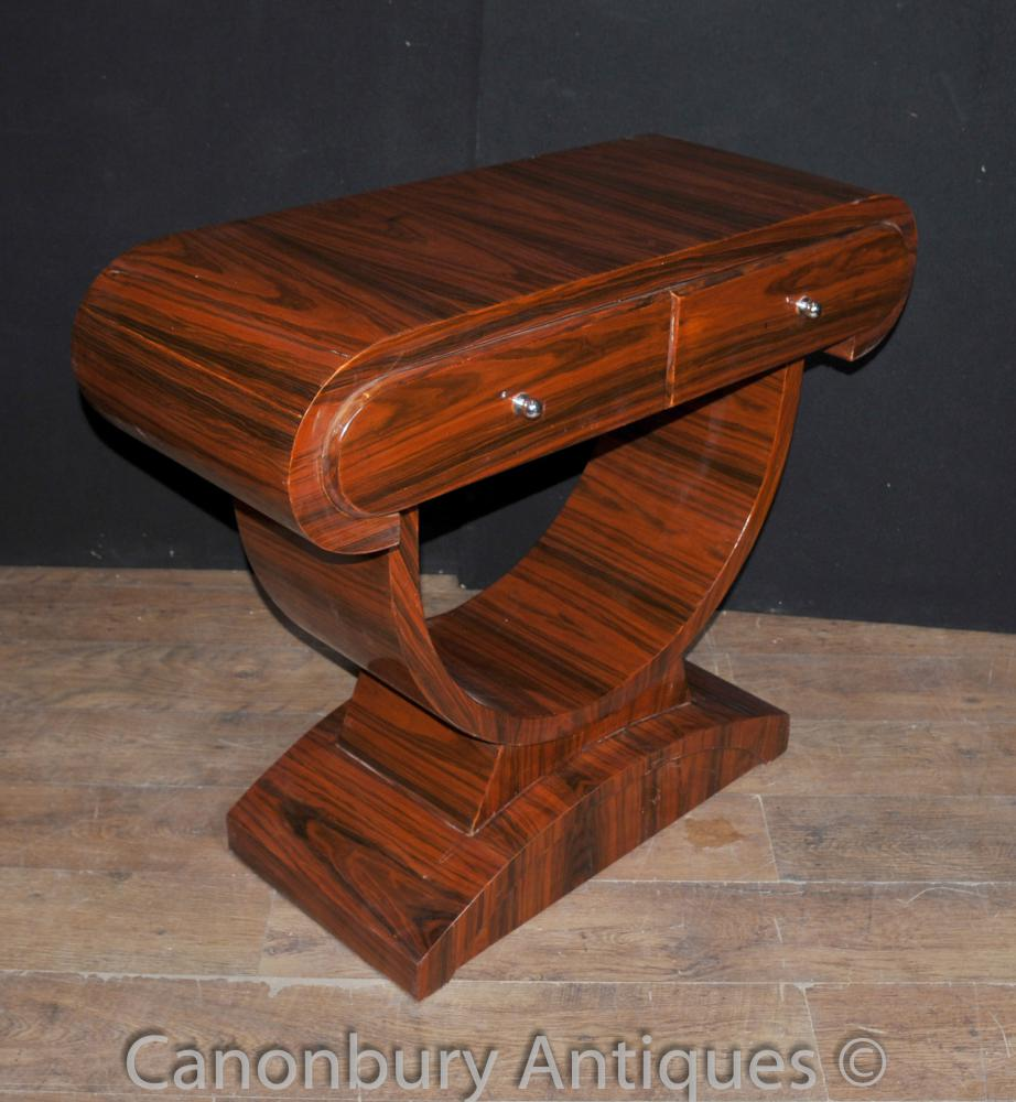 art deco console table rosewood hall tables. Black Bedroom Furniture Sets. Home Design Ideas