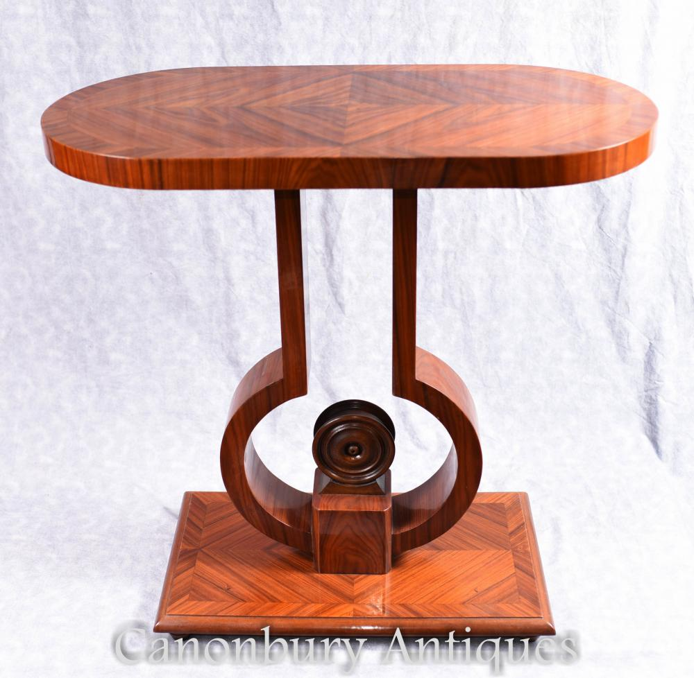 Art Deco Console Table Rosewood Hall Tables Furniture
