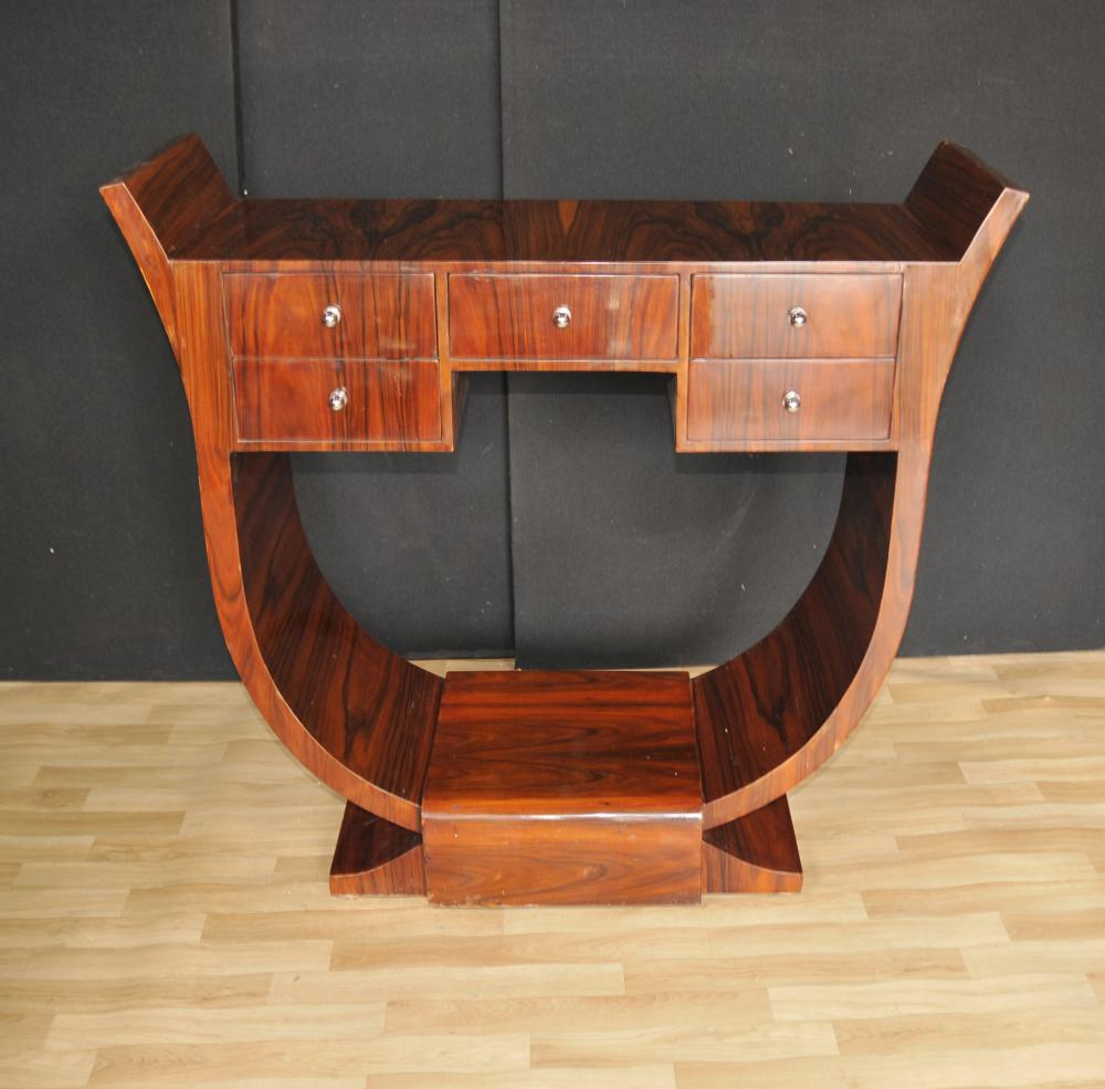 art deco console table rosewood modernist 1920s furniture. Black Bedroom Furniture Sets. Home Design Ideas