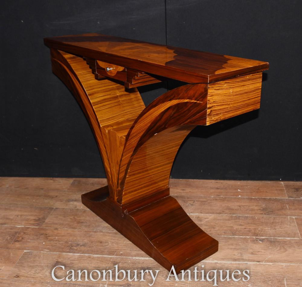 art deco hall console table inlay interiors. Black Bedroom Furniture Sets. Home Design Ideas