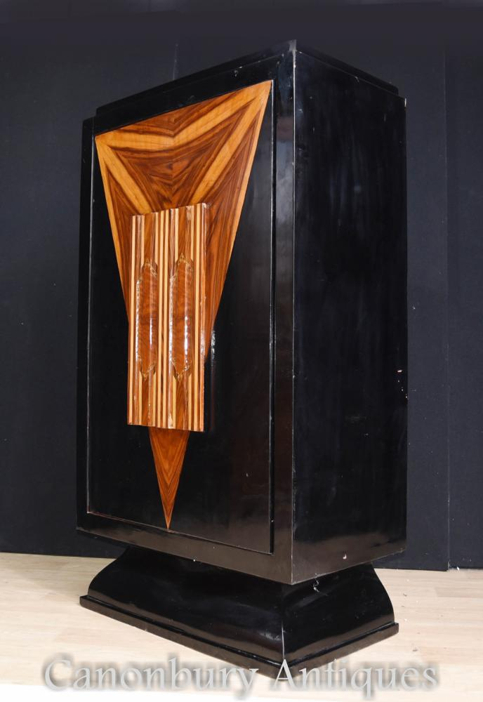 Art Deco Lacquer Cocktail Cabinet Drinks Chest