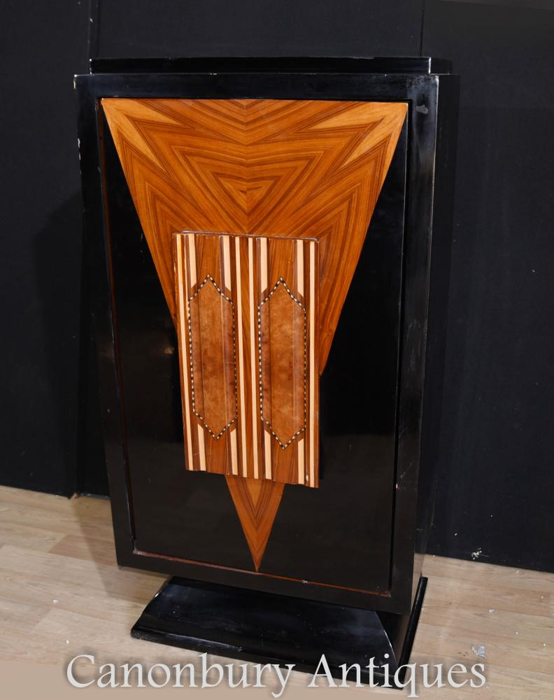 Art Deco Lacquer Cocktail Drinks Cabinet 1920s Furniture