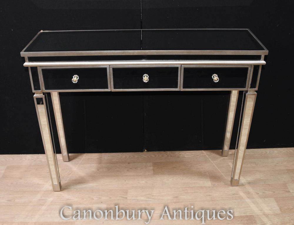 art deco mirrored console dressing table. Black Bedroom Furniture Sets. Home Design Ideas