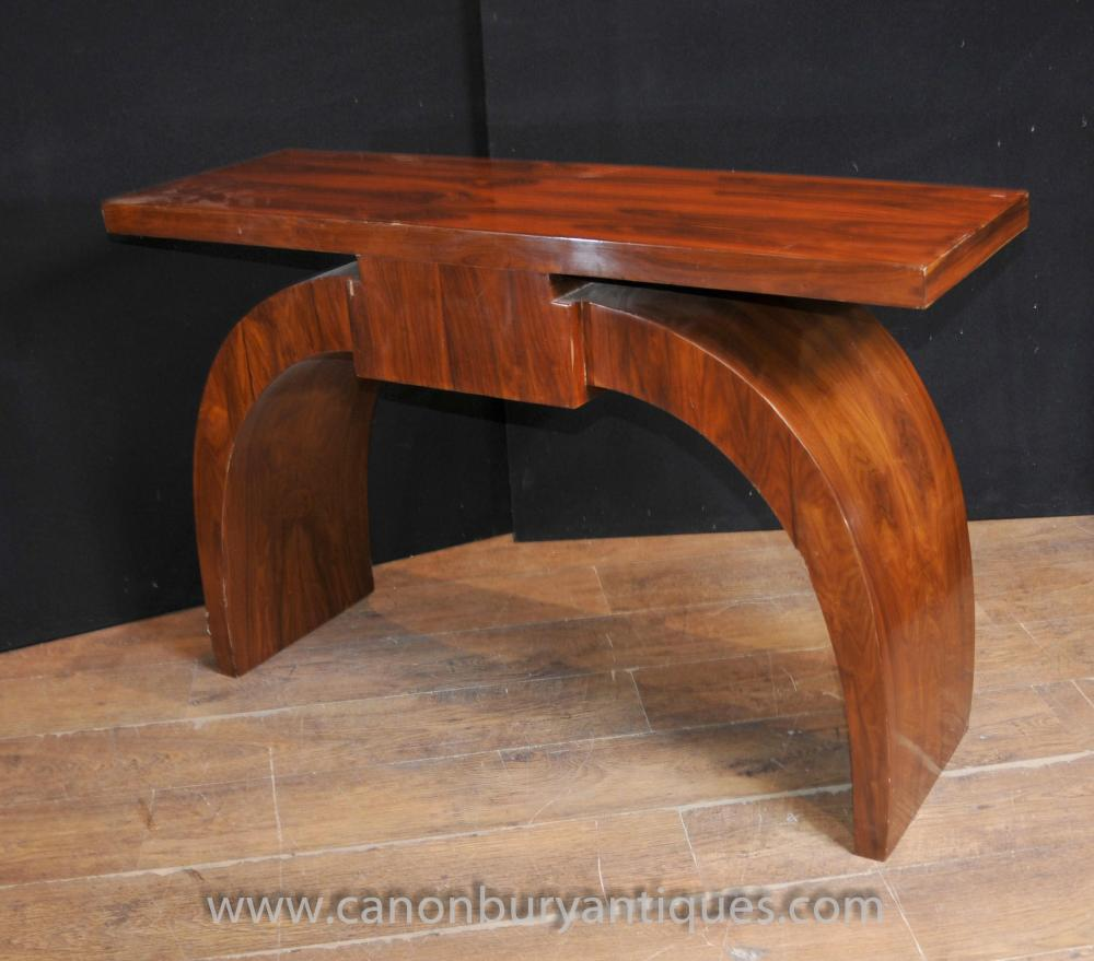 art deco modernist console table rosewood hall tables. Black Bedroom Furniture Sets. Home Design Ideas