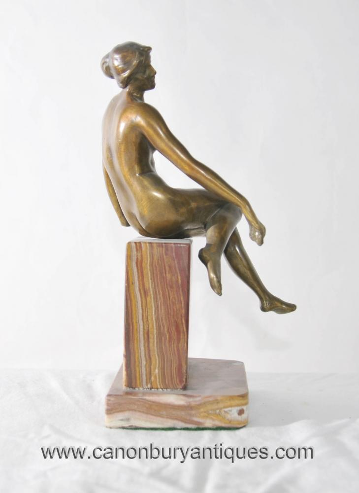 Collector Edition Nude Male bronze Sculpture on marble base