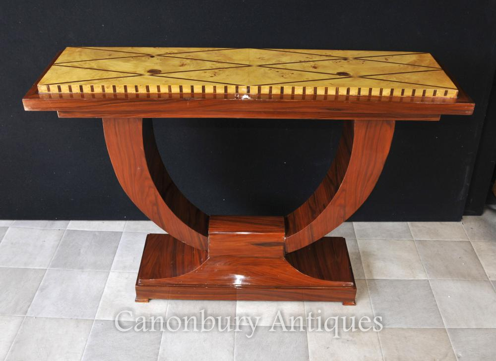 Art Deco Foyer Table : Art deco ogee rosewood console table hall tables
