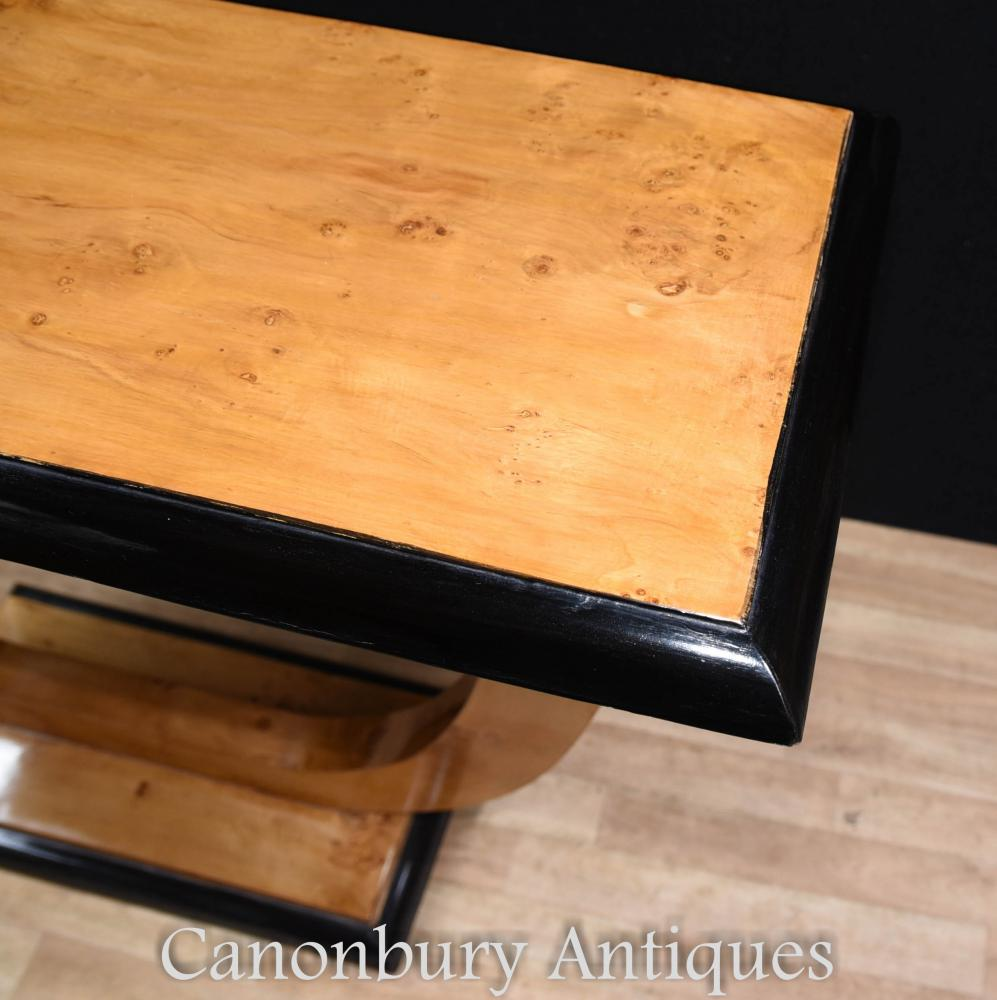 art deco oggee console table blonde walnut hall tables. Black Bedroom Furniture Sets. Home Design Ideas