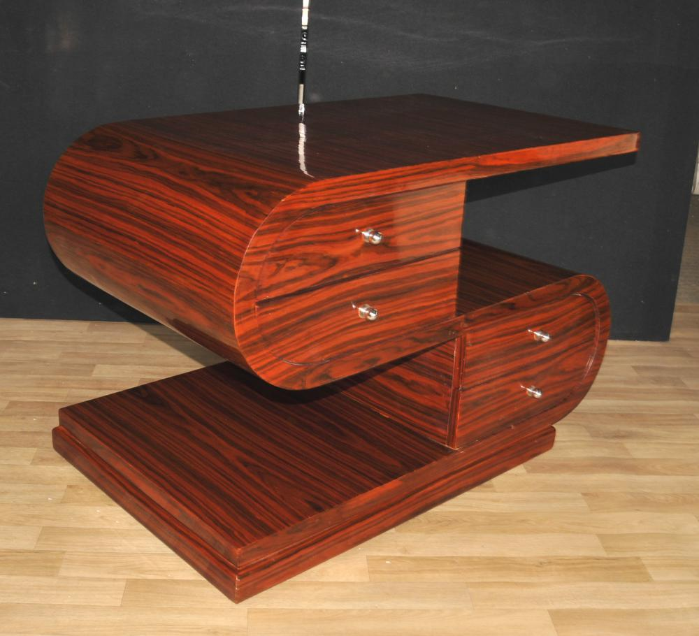 art deco s shape coffee table rosewood modernist furniture  ebay - additional images