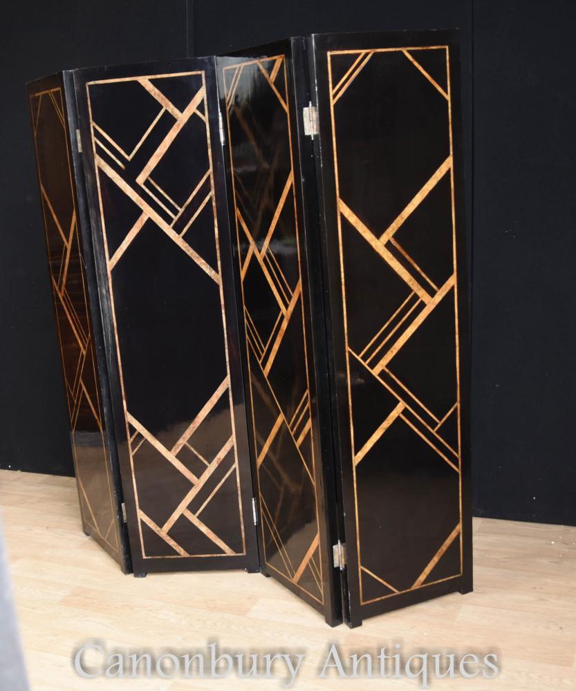 Art Deco Screen Room Divider Lacquer