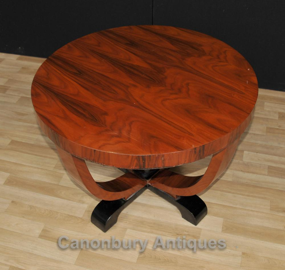 Art deco side table cocktail tables mahogany furniture ebay for Table de nuit art deco