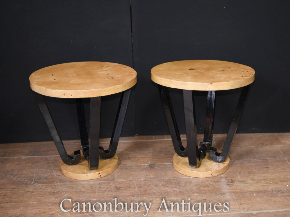 Art Deco Side Tables Retro Cocktail Table Furniture