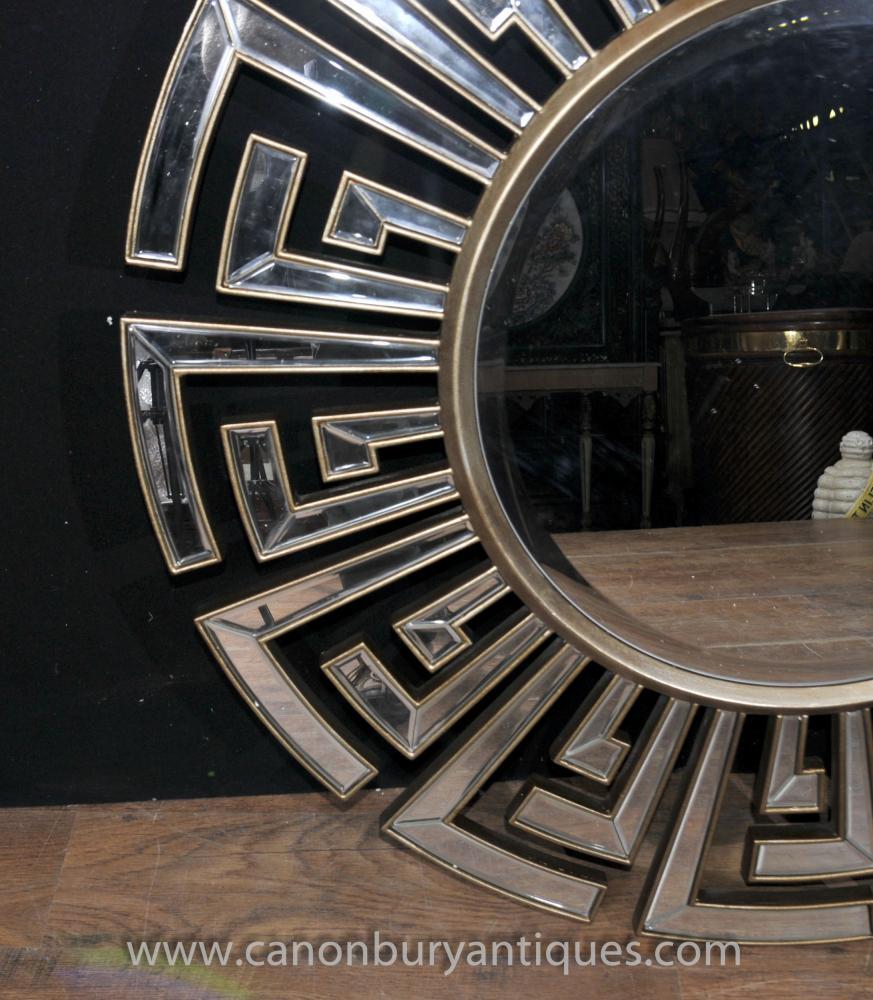 Art Deco Star Burst Mirror Round Glass Mirrors
