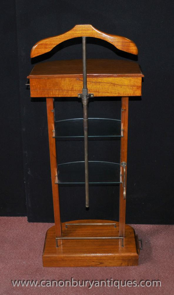 Art deco valet stand butler trouser press mad men satinwood for Stand expo deco