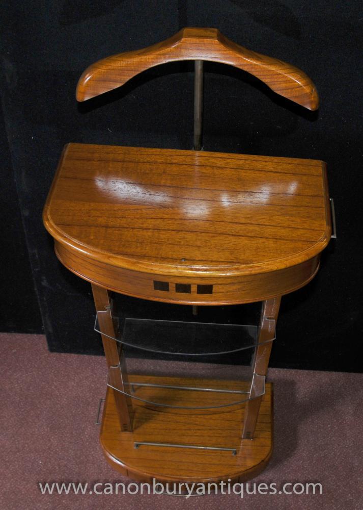 Art Deco Valet Stand Butler Trouser Press Mad Men Satinwood