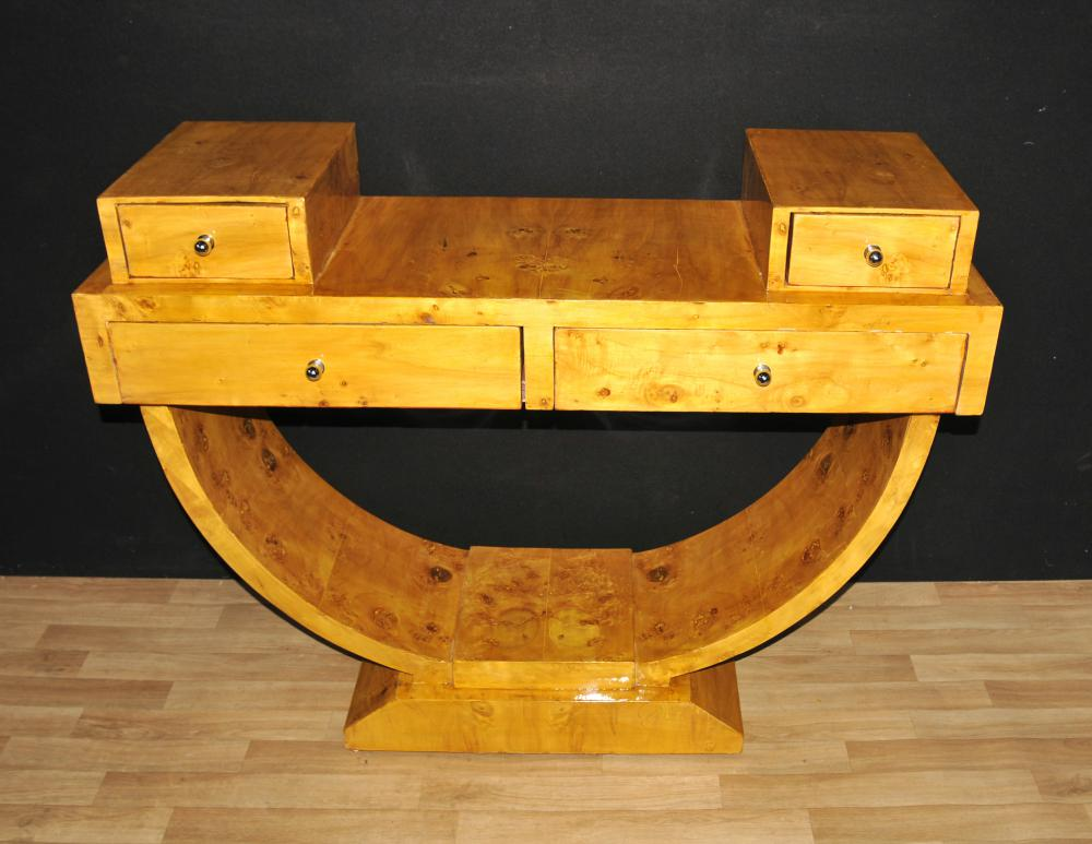 Art deco walnut console table vintage furniture tables ebay for Deco de interiores