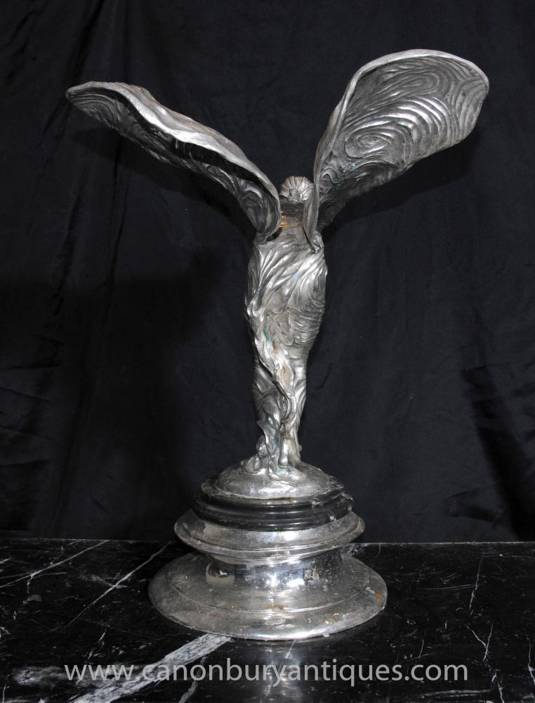 art nouveau silver bronze flying lady statue figurine deco. Black Bedroom Furniture Sets. Home Design Ideas