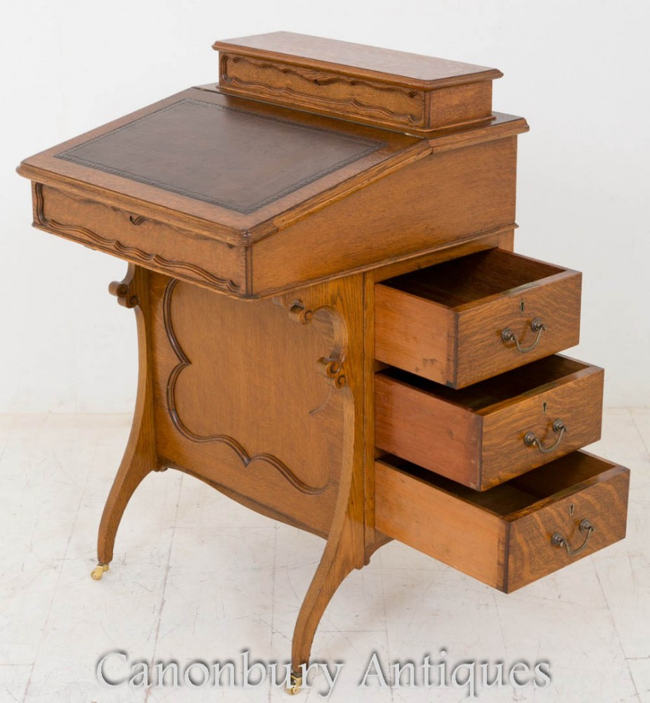 Arts And Craft Davenport Walnut Desk Ebay