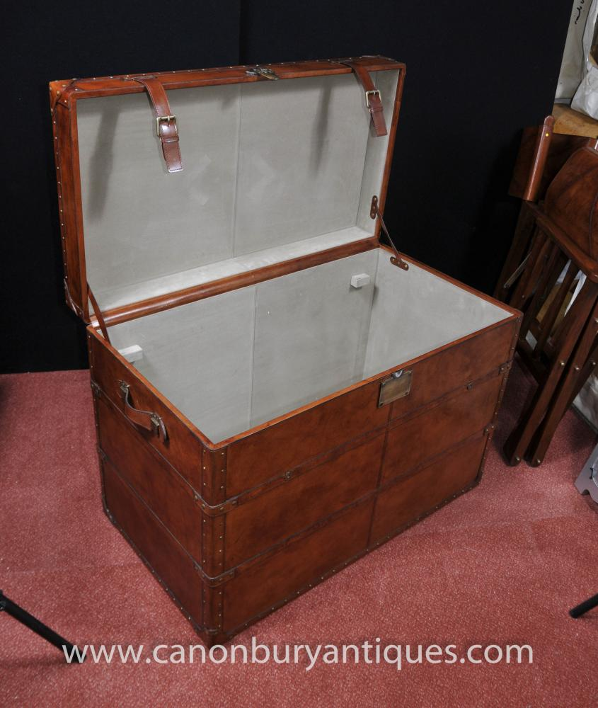 big english leather campaign luggage trunk storage box coffee table. Black Bedroom Furniture Sets. Home Design Ideas