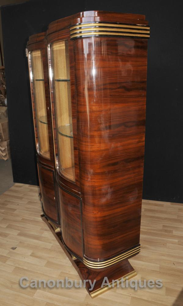 Big Art Deco Cabinet Display Bookcase 1920s Vintage Interiors
