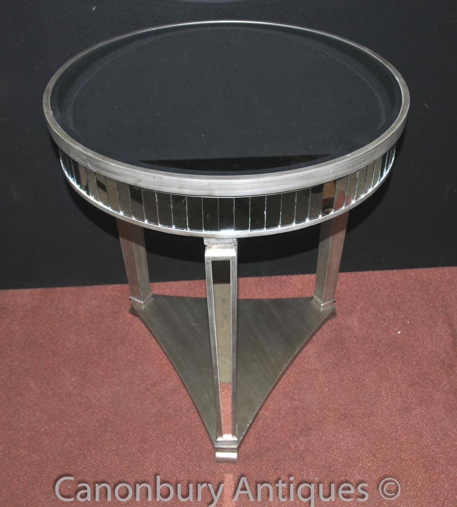Big Art Deco Mirrored Side Table Cocktail Tables Furniture