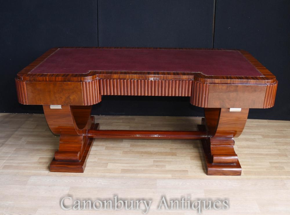 Big Art Deco Partners Desk Writing Table Bureau 1920s Office Furniture