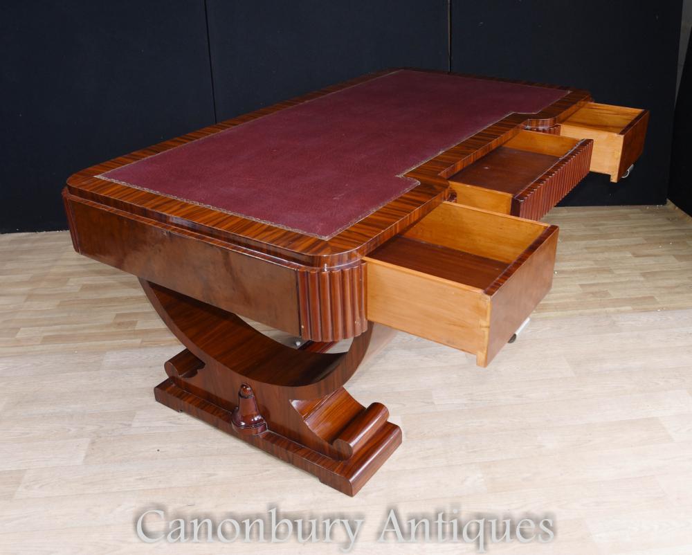 big art deco partners desk writing table bureau 1920s office furniture. Black Bedroom Furniture Sets. Home Design Ideas
