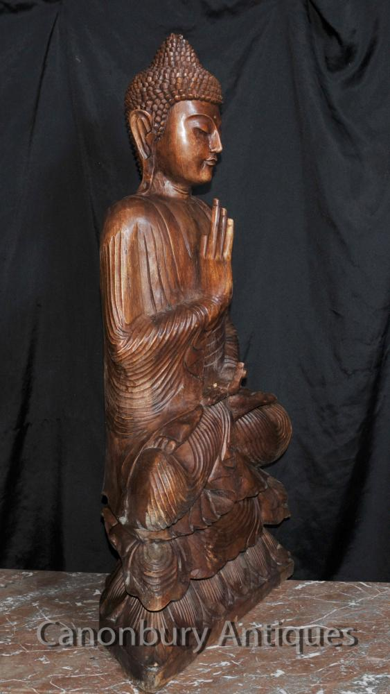 Big Carved Tibetan Buddha Sculpture Buddhist Art Buddhism