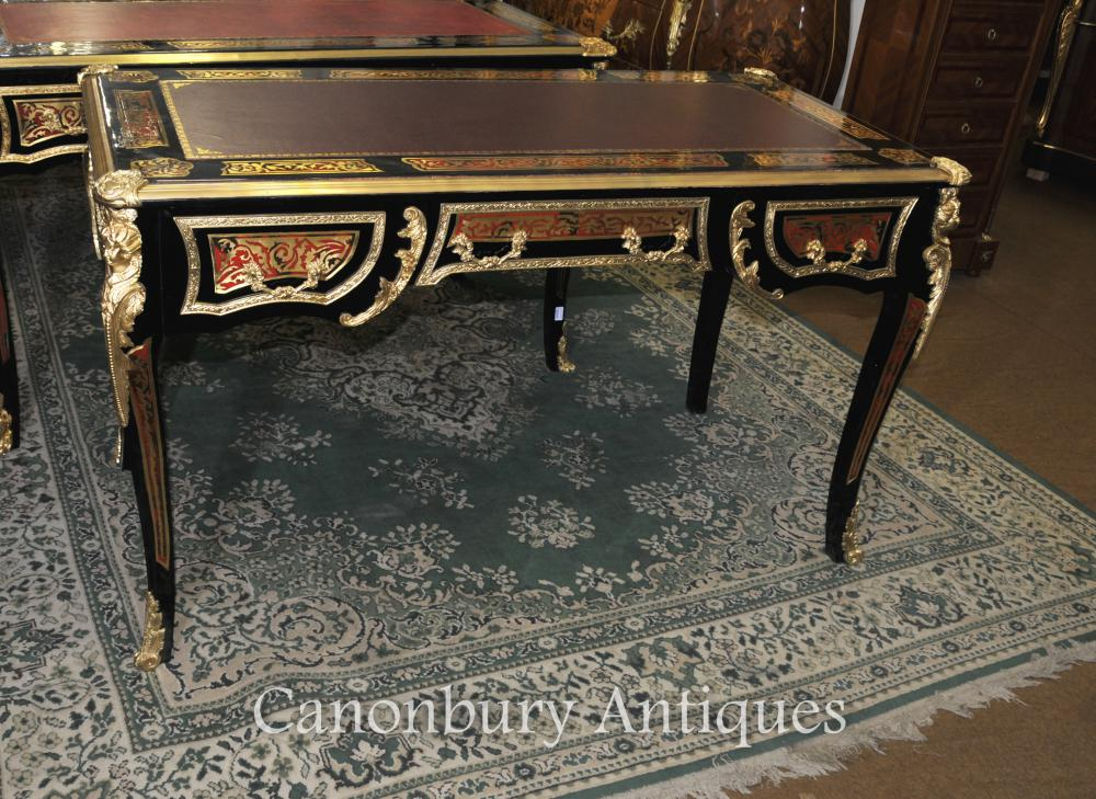 boulle desk writing table buhl inlay french bureau plat. Black Bedroom Furniture Sets. Home Design Ideas