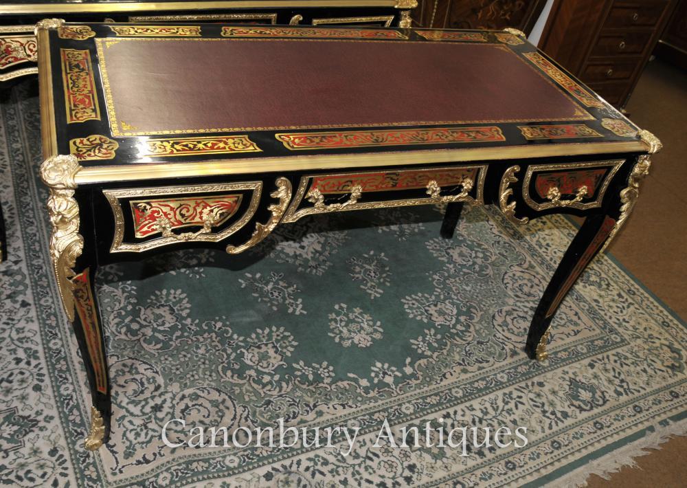 boulle desk writing table buhl inlay french bureau plat ebay. Black Bedroom Furniture Sets. Home Design Ideas