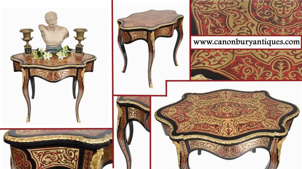 Boulle Beistelltisch Französischer Schreibtisch in Louis XVI-Form