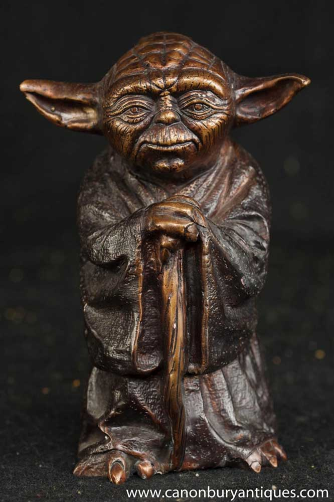 bronze statue yoda figurine star wars casting. Black Bedroom Furniture Sets. Home Design Ideas