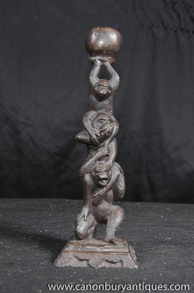Joe For Oil >> Bronze Three Wise Monkeys Statue Hear See Speak No Evil Ape Monkey