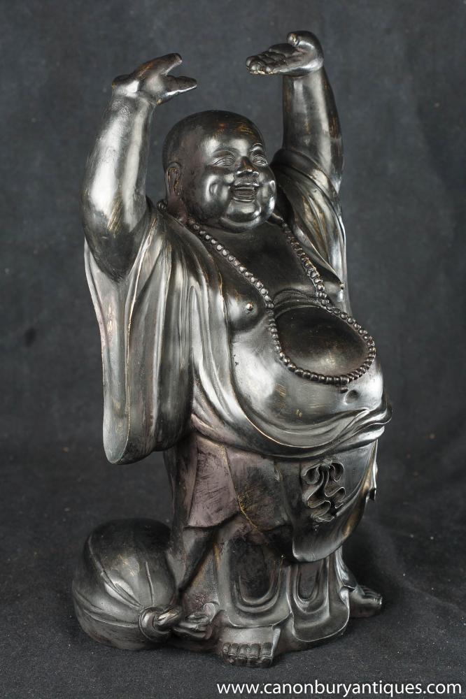 Bronze Happy Lucky Buddha Statue Buddhist Art Buddhism