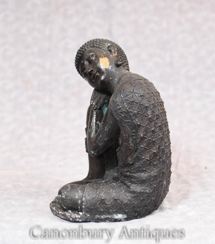 Bronze Sleeping Buddha Statue Shakyamuni Buddhist Tibetan