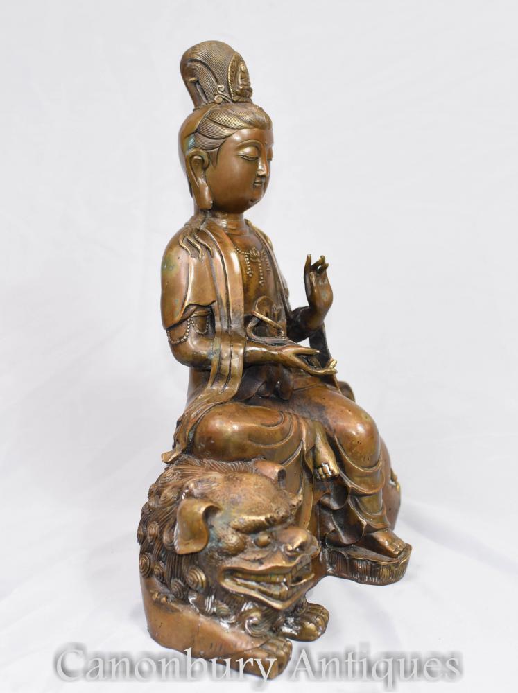 bronze tibetan bronze statue buddhist fugen monju samantabhadra manjushri. Black Bedroom Furniture Sets. Home Design Ideas