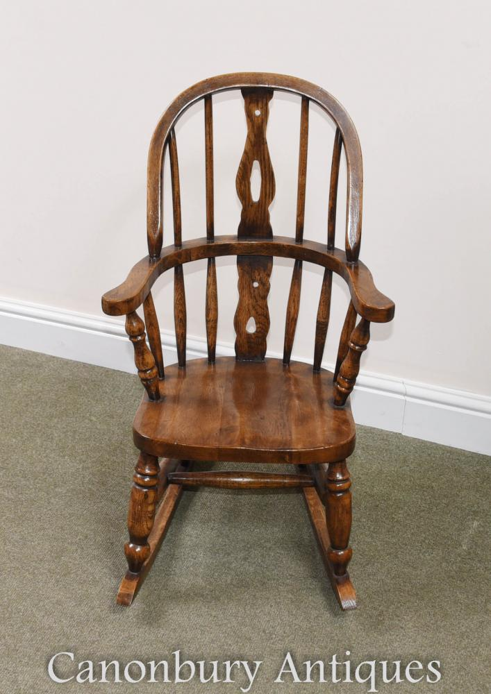 - Childs Oak Windsor Rocking Chair Childrens Chairs