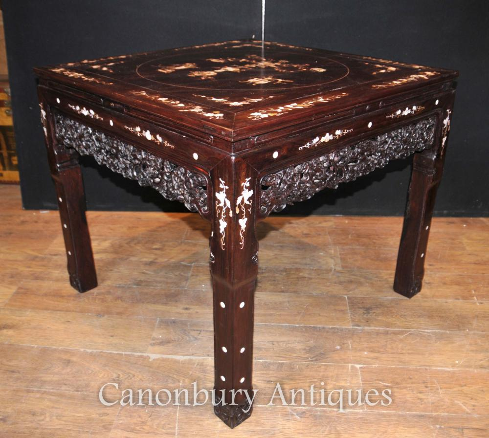 Chinese Antique Hardwood Table And Stool Dining Set Mother