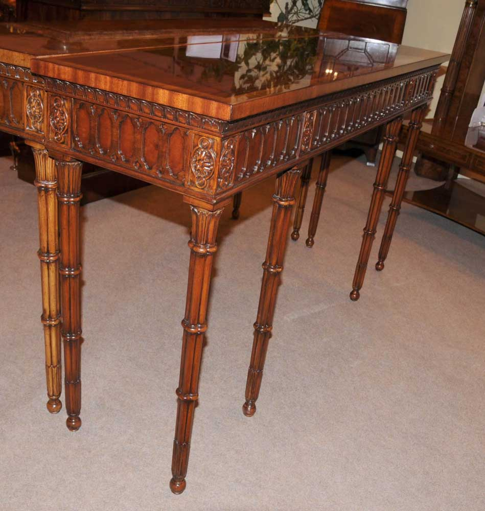 Chippendale console table hand carved mahogany hall tables ebay additional images geotapseo Gallery