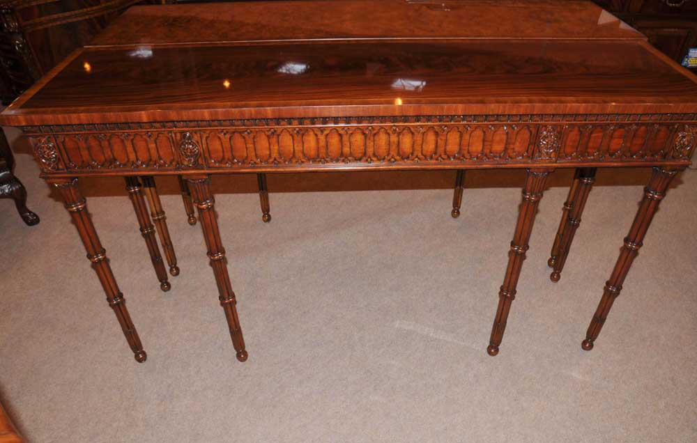 chippendale console table hand carved mahogany hall tables
