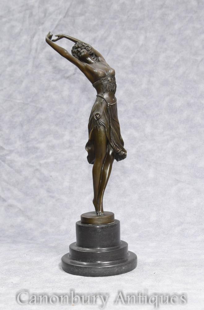colinet deco bronze semi naked figurine dancer. Black Bedroom Furniture Sets. Home Design Ideas