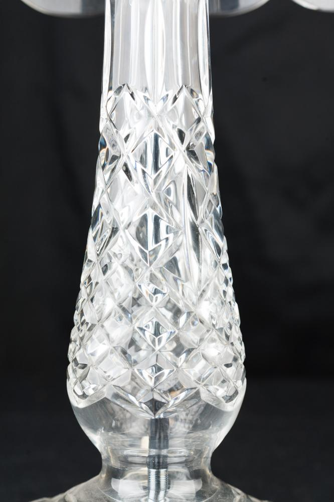 Crystal Cut Glass French Art Nouveau Table Lamp Light