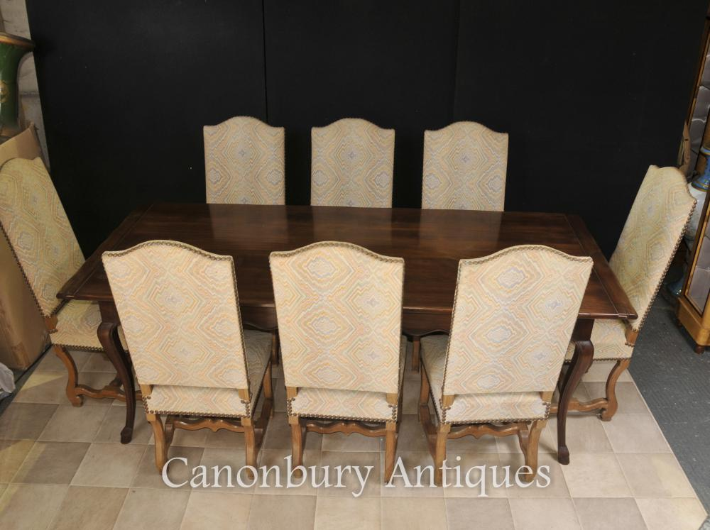 Engish Farmhouse Dining Set Refectory Table And Chair Set