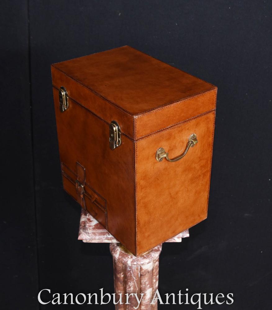 94d8cbf254668 English Leather Hamper Champagne Wine Cooler Ice Bucket Steamer ...