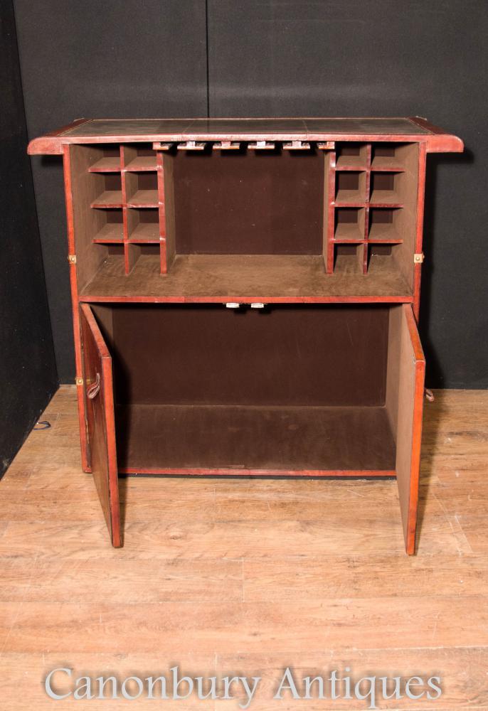 English Leather Pub Bar Campaign Furniture Drinks Cabinet Ebay