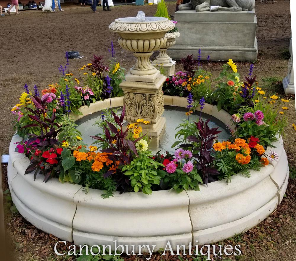 english stone garden fountain doulton urn water feature